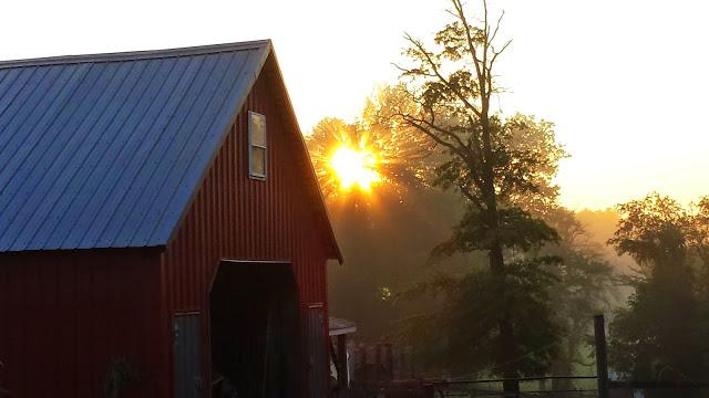 Corncrib & sunrise